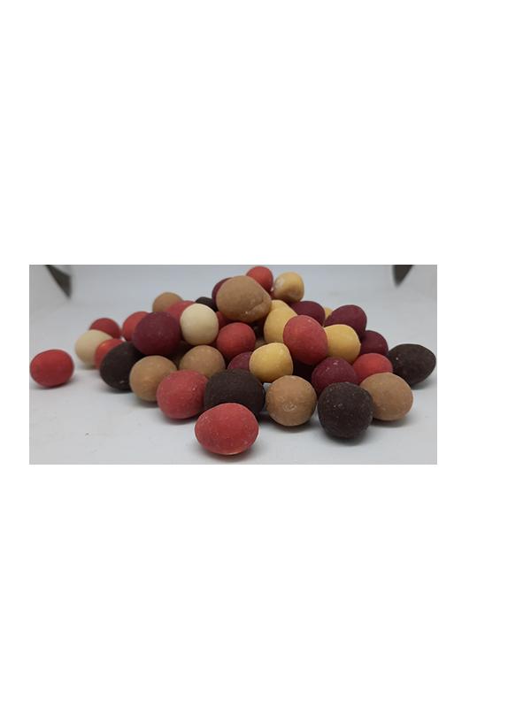 מיקס אגוזי לוז מצופים שוקולד טבעוני בטעמים